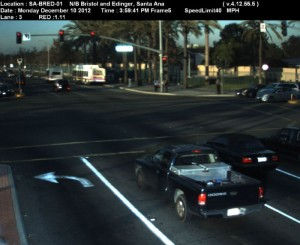 Red Light Camera at Intersection of Bristol St and Edinger Ave in Santa Ana, CA - north bound camera picture