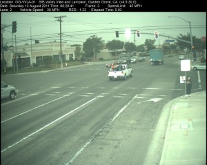 Red Light Camera at Intersection of Valley View St and Lampson Ave in Garden Grove, CA - south bound camera picture