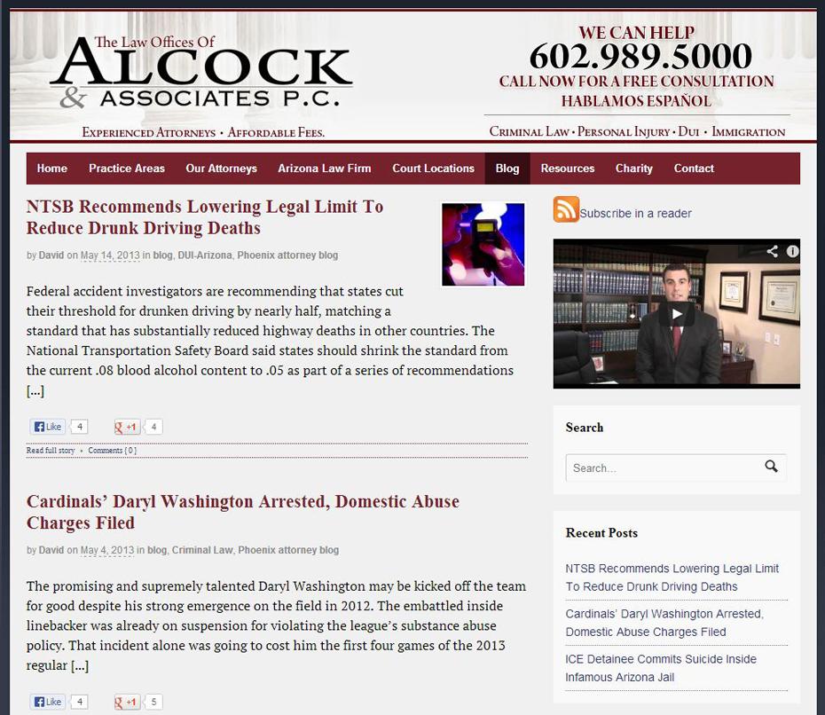 Alcock and Associates P.C. Legal BLOG