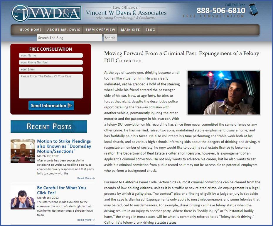 Criminal Law Blog Posting