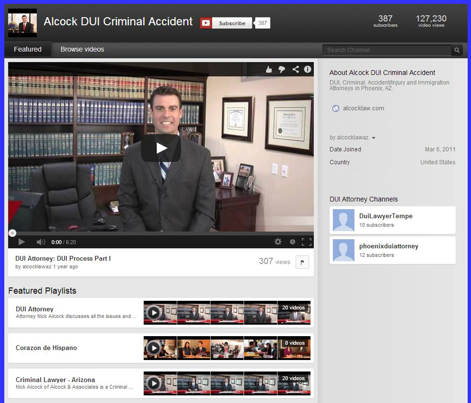 Alcock and Associates P.C. YouTube Channel